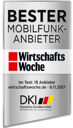 Bester Mobilfunkanbieter 2017